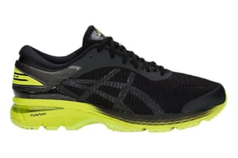 ASICS Men's Gel-Kayano 25 2E Running Shoe (Neon Lime/Black)