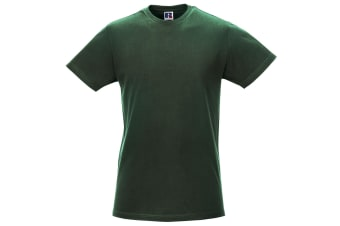 Russell Mens Slim Short Sleeve T-Shirt (Bottle Green) (XL)