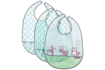 JJ Cole Feeding Bib Set 3 Pack - Forest Fauna