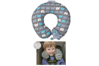 Playette Kids Head/Neck Support Headrest Pillow for Car Seat/Stroller Elephant