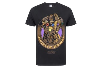 Marvel Avengers Infinity War Mens Thanos Infinity Gauntlet T-Shirt (Black)