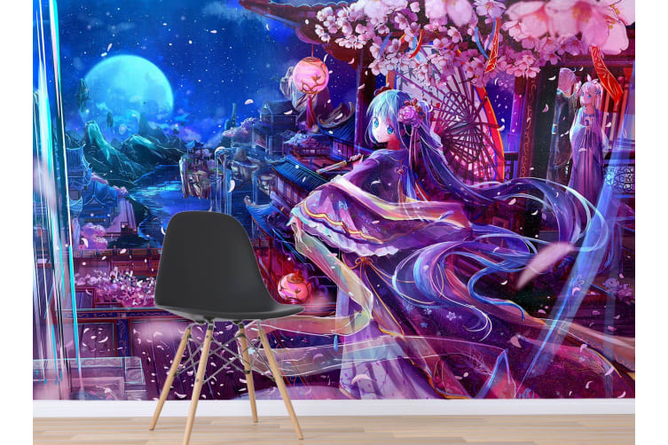 3D Ethereal Gauze 39 Anime Wall Murals Woven paper (need glue), XXL 312cm x 219cm (WxH)(123''x87'')