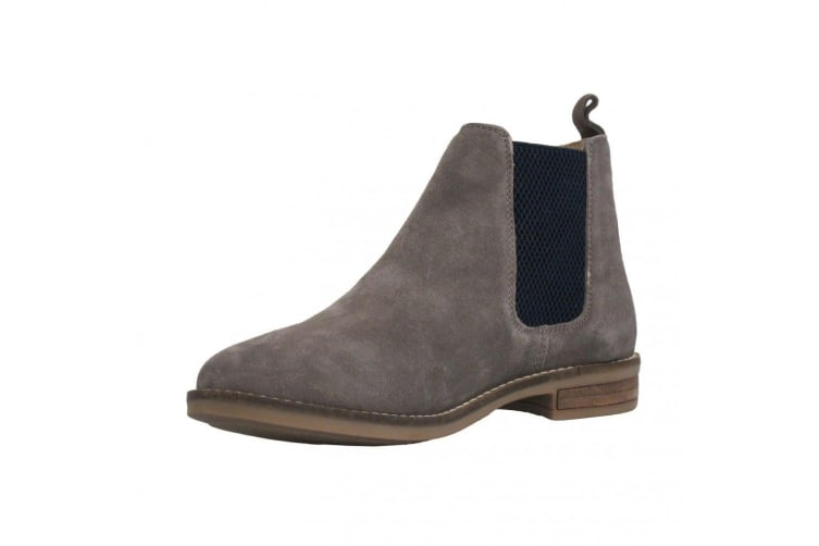 Cipriata Stellira Womens/ Ladies Twin Gusset Leather Lined Ankle Boot (Mink/Navy) (8 UK)