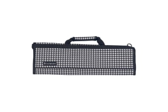 Messermeister 8 Pocket Knife Roll - Houndstooth