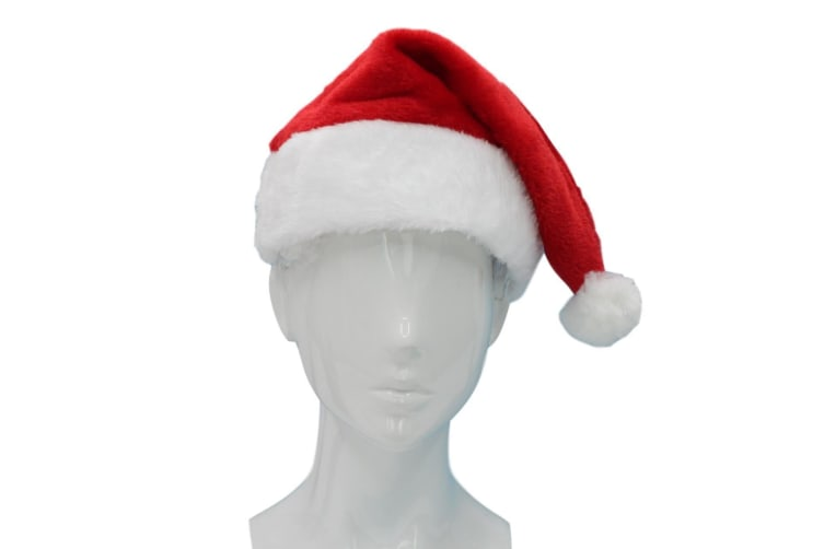Santa Hat Costume Christmas Dress Up Unisex Adults Kids Novelty Xmas Party Cap [Design: Santa Hat B]