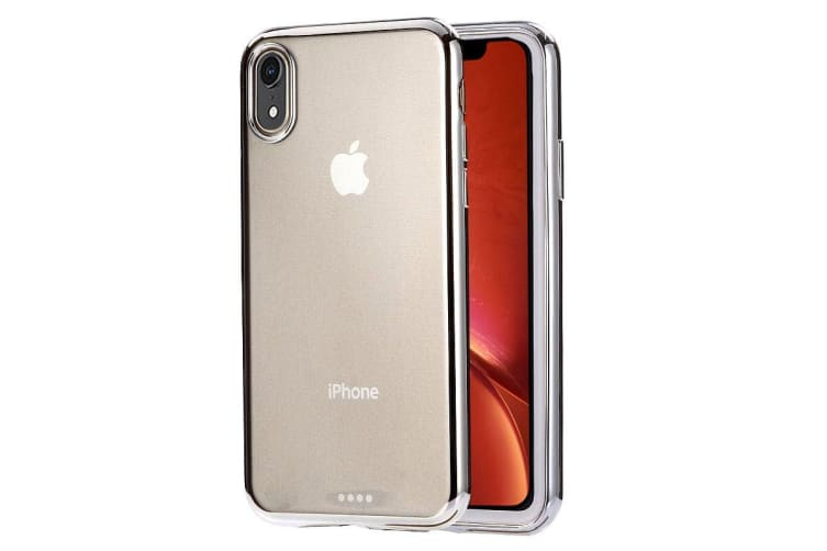 Ultra-thin Electroplating TPU Protective Case For iPhone XR Silver