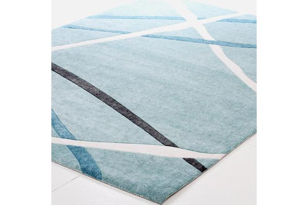 Abstract Lines Rug Blue 160x110cm