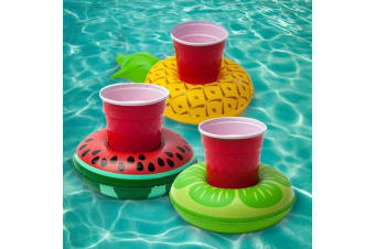 Inflatable Tropical Fruits Beverage Pool Floats - Pack of 3 Pineapple Watermelon Lime