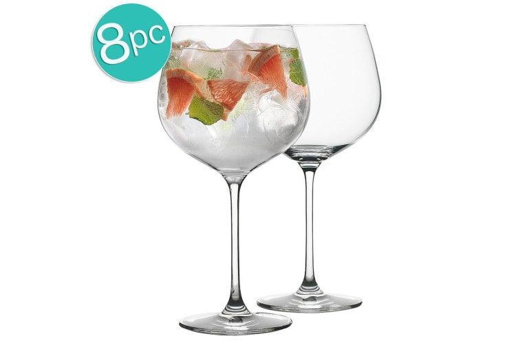 8pc Ecology Classic 780ml Clear Cocktails Gin & Tonic Balloon Party Glasses