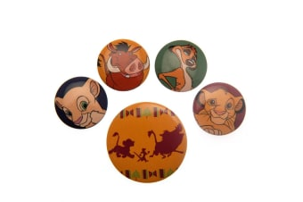 The Lion King Button Badge Set (Multicoloured) (One Size)