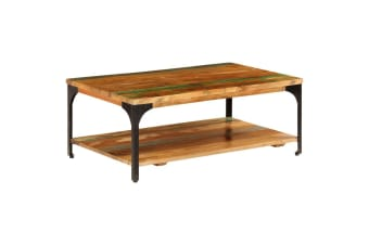 vidaXL Coffee Table with Shelf 100x60x35 cm Solid Reclaimed Wood