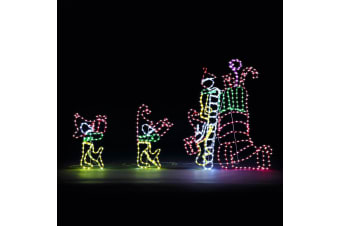 New Christmas Stocking Gifts Lights Motif 27M LED Rope Xmas Decoration Outdoor Home Display