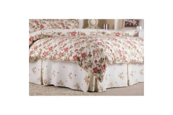 Belledorm Wild Rose Fitted Valance (Ivory)