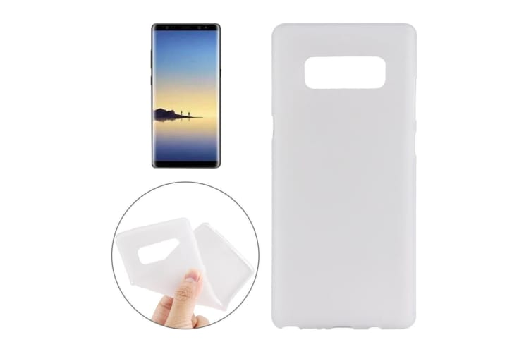 For Samsung Galaxy Note 8 Back Case Stylish High-Quality Protective Cover White