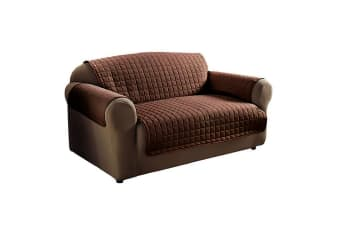 Floso Waterproof Couch Cover (Chocolate Brown) (Armchair)