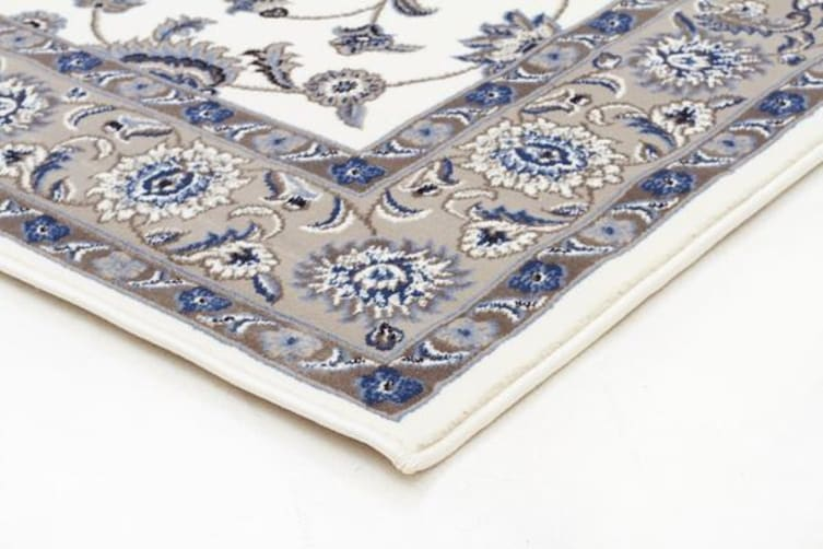 Classic Rug White with Beige Border 330x240cm