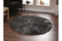 Twilight Shag Rug - Ash Brown Round Rug