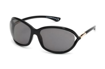 Tom Ford FT0008 - Black (Smoke Polarised lens) Womens Sunglasses