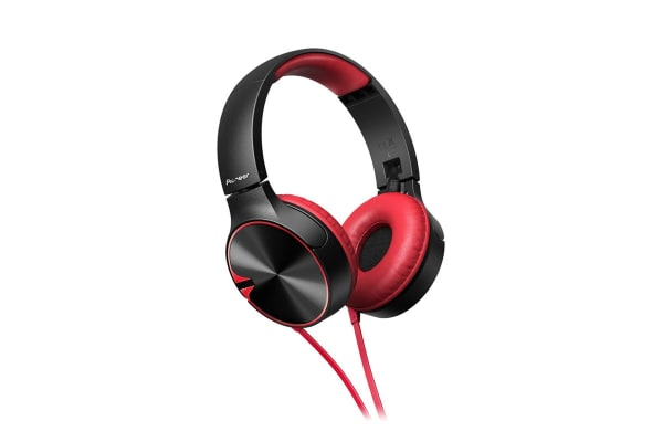 Pioneer Enclosed Bass Dynamic Headphones with Mic - Red (SEMJ722TR)