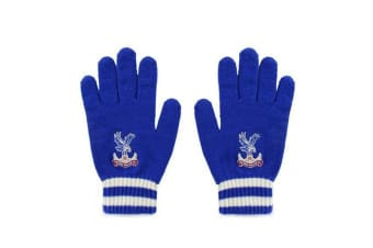 Crystal Palace FC Official Adults Unisex Knitted Gloves (Royal Blue) (One Size)