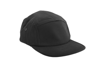 Beechfield Canvas 5 Panel Classic Baseball Cap (Pack of 2) (Black) (One Size)