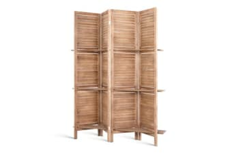 4 Panel Room Divider Privacy Screen Timber
