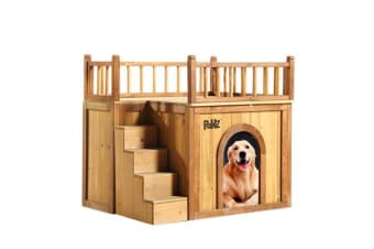 Waterproof Wooden Elevated Pet Kennel Dog House