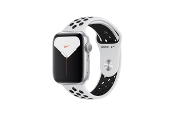 Apple Watch Nike+ Series 5 (Silver Aluminum, 44mm, Pure Platinum/Black Nike Sport Band, GPS Only)
