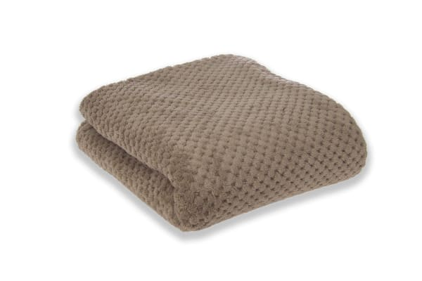 Apartmento Diamond Fleece Blanket Taupe (Single)