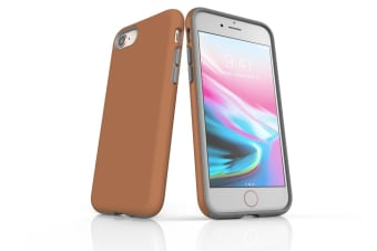 Brown For iPhone 7 Tough Case  Protective Back Cover
