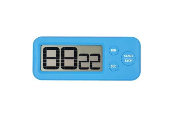 Digital Lcd Magnetic Clock Count Down Timer 99Min Kitchen Alarm Sport - Blue