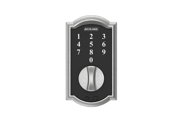 Schlage Touch Keyless Touchscreen Deadbolt with Camelot Trim (Satin Chrome)