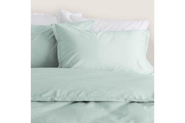 Canningvale Bamboo Cotton Quilt Cover Set Queen Gelato Mint