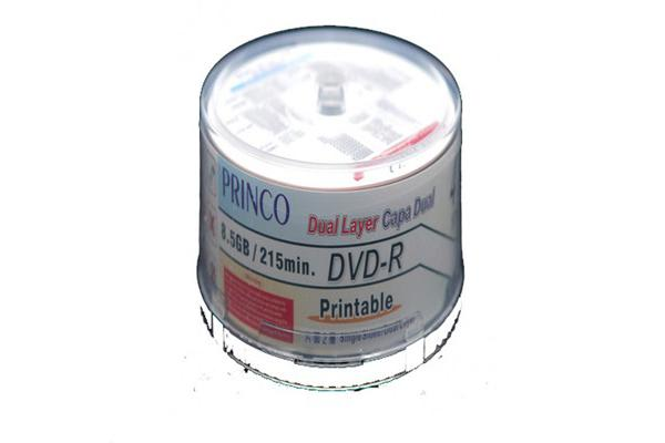 Princo Dual Layer  DVD-R 8x DL/PT/WH/50/BA