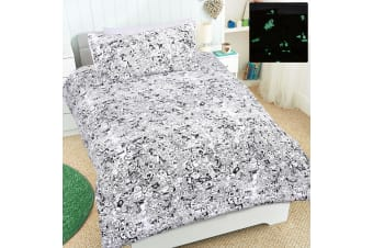 Boo Quilt Cover Set Single by Happy Kids