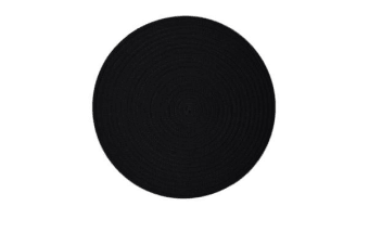 Casa Regalo Round Placemat 38cm Black