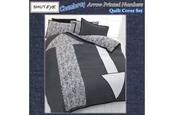 Chambray Arrow Quilt Cover Set by Shuteye