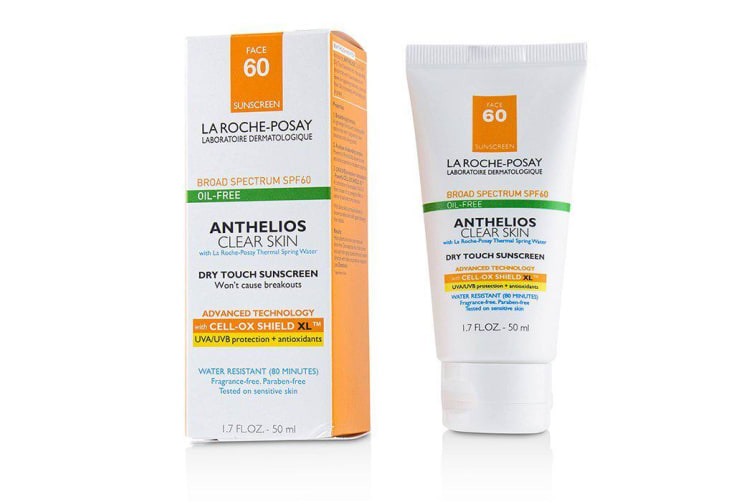 La Roche Posay Anthelios Clear Skin Dry Touch Sunscreen For Face SPF 60 - Oil-Free 50ml