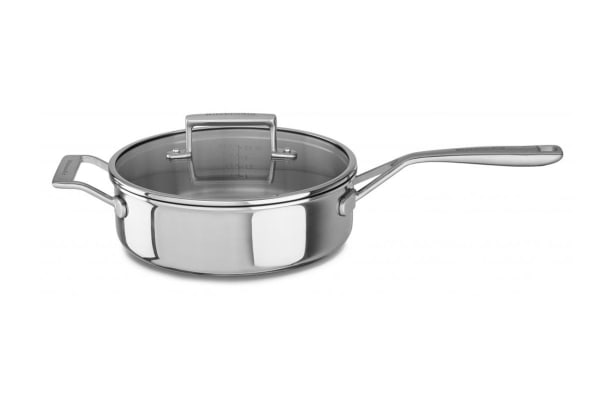 KitchenAid Tri-Ply 3.3L Stainless Steel Saute Pan with Lid (KC2T35EHST)