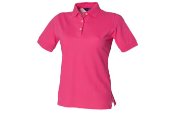 Henbury Womens/Ladies Classic Polo Shirt (Fuchsia)