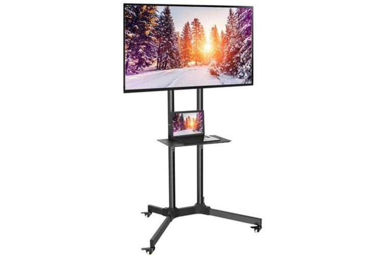 Perlesmith PSTVMC01 Height Adjustable TV Cart