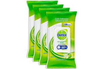 480pc Dettol Multipurpose Cleaning Wipe Kitchen Disposable Wet Wipes Crisp Apple