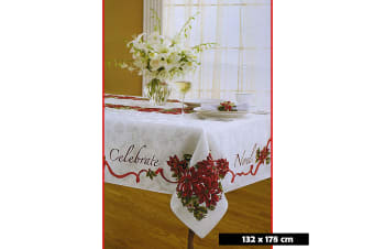 Christmas Tablecloth Celebration Rectangle 132 x 178 cm