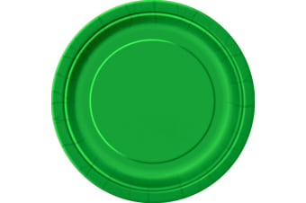 Unique Party Paper Party Plates (Pack Of 16) (Emerald Green) (One Size)