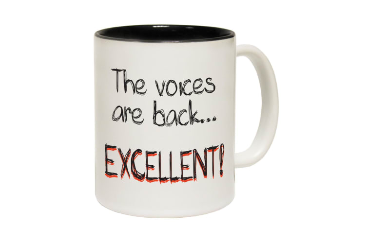 123T Funny Mugs - Thevoices Excellent - Black Coffee Cup