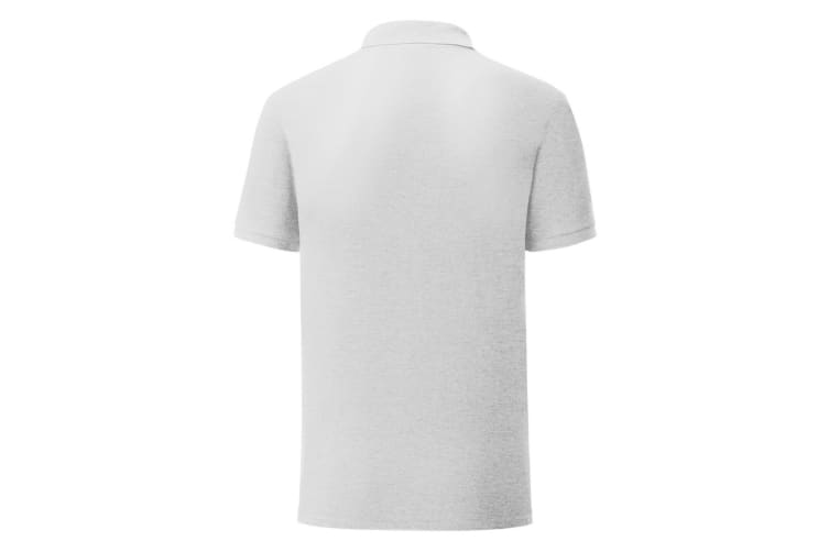 Fruit Of The Loom Mens Tailored Poly/Cotton Piqu Polo Shirt (Heather Grey) (M)