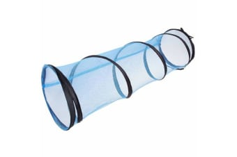 Jackson Galaxy Cat Crawl Mesh Tunnel Blue