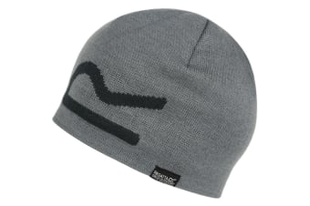 Regatta Mens Brevis Acrylic Knit Warm Winter Walking Beanie Hat (Rock Grey)