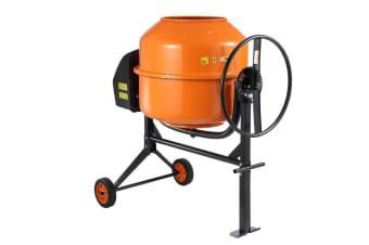 220L Portable Cement Mixer w/ Waterproof Power Motor for Concrete Stucco Mortar