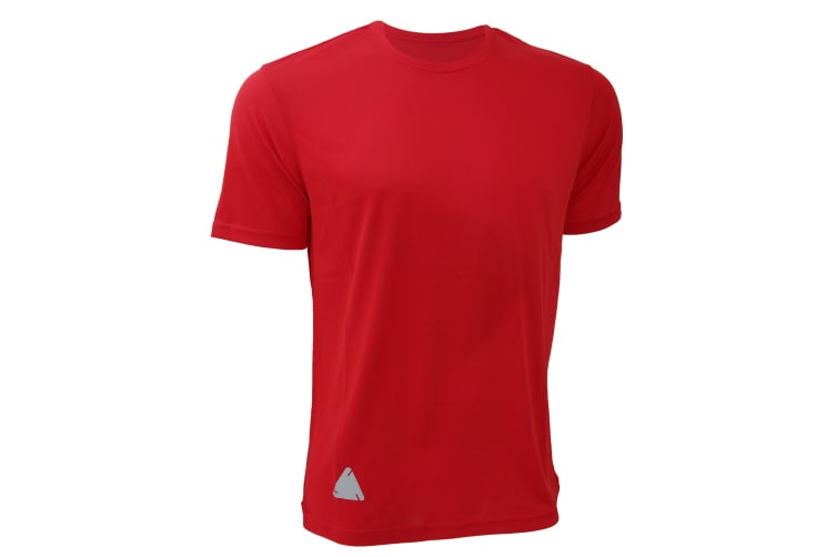 RTY Mens High Visibility Enhanced Dynamic T-Shirt (Pack of 2) (Bright Red) (2XL)